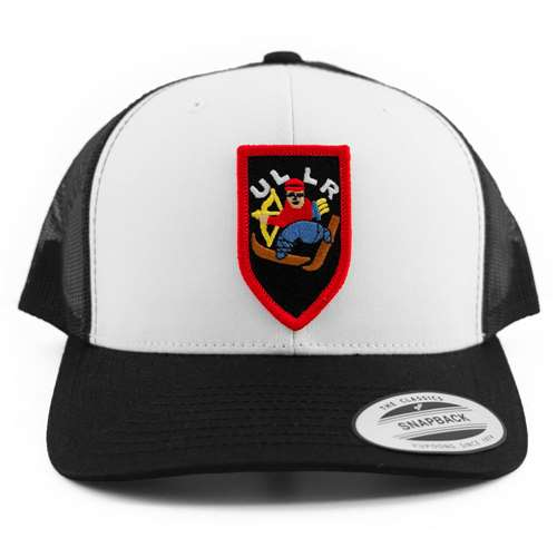 Black & White Snapback Ball Cap with Retro Ullr Patch