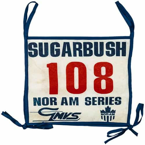 1970's Sugarbush Nor Am Series Race Bib #108, Vermont