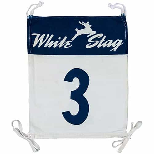 1950's White Stag Vintage Ski Race Bib #3 supplied by the White Stag Clothing Company, Portland, OR