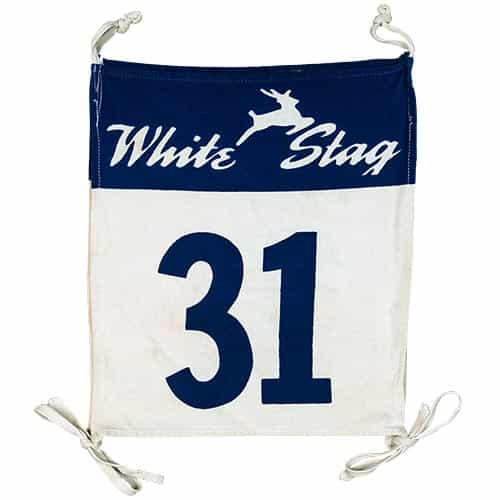 1950's White Stag Vintage Race Bib #31 supplied by the White Stag Clothing Company, Portland, OR