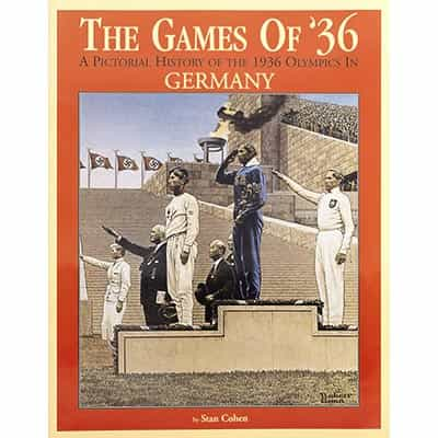 The Games Of 1936 Winter Olympics Book Signed by Author