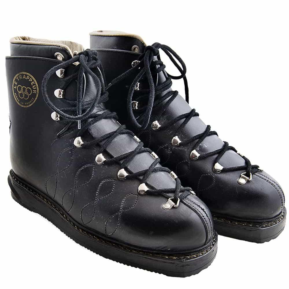 a1e2c0323f1 1960 s Le Trappeur Mint Leather Vintage Ski Boots