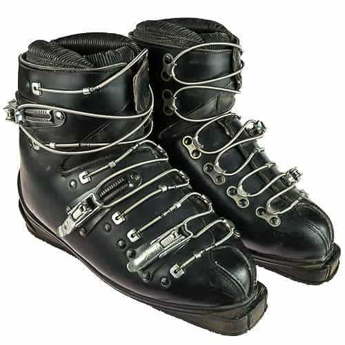 1960s Molitor Cable Buckle Vintage Leather Ski Boots