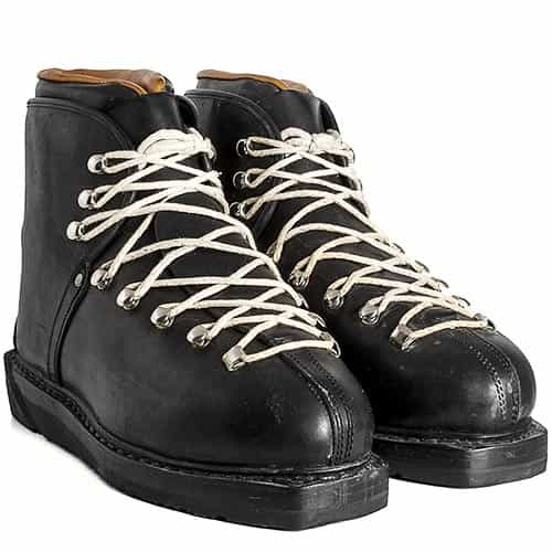 1960s Monte Verde New Leather Lace Ski Boots