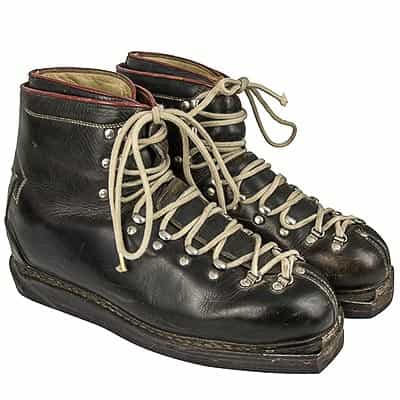 1960s Rieker Vintage Leather Double Lace Ski Boots