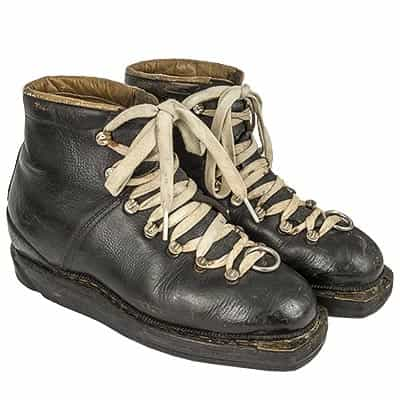 1960s Silvretta Vintage Leather Double Lace Ski Boots