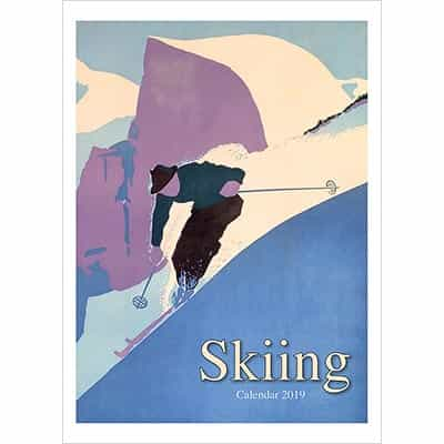2019 Wall Calendar of Vintage  Skiing Posters From US & Canada