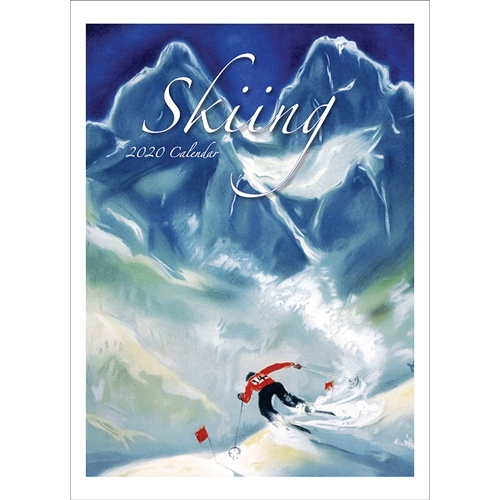 2020 Wall Calendar of Vintage Skiing Posters From France, Switzerland, Italy & Canada