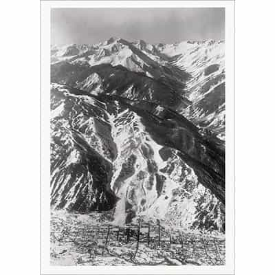 Aspen From the Air in 1950s Greeting Card