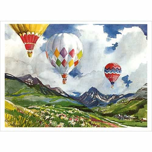 Cecile Johnson Snowmass Balloons Greeting Card