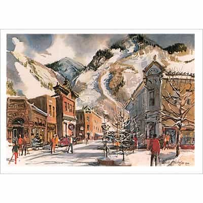 Cecile Johnson Aspen Galena St Greeting Card