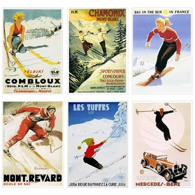 Greeting Cards Set of European Poster Images