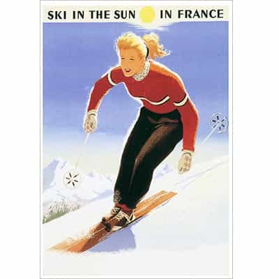 Ski In The Sun In France Greeting Card