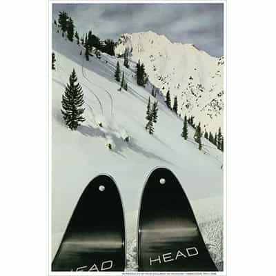 Head Skis at Alta Postcard