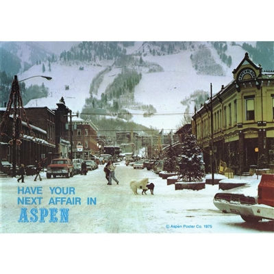 Have Your Next Affair in Aspen Postcard, 4 x 6 inches