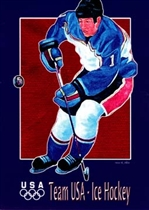 Torino 2006 USA Olympic Ice Hockey Team Postcard