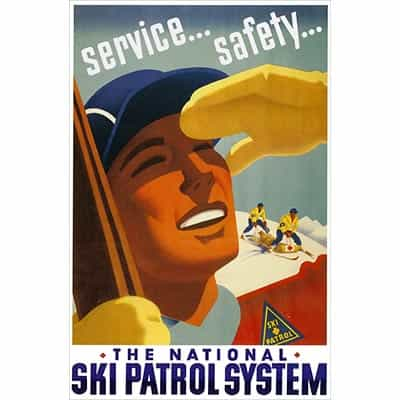 National Ski Patrol Postcard