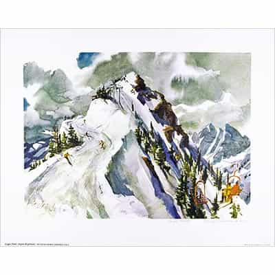 Loges Peak, Aspen Highlands Poster Signed By Cecile Johnson