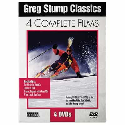 Greg Stump Classic Collection of 4 Ski Films in a DVD Box Set