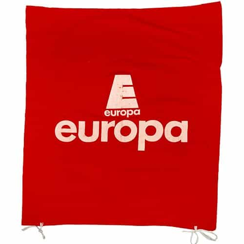 1970's Europa Cup Red Downhill Race Gate Flag
