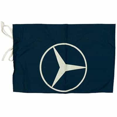 1980's Mercedes Benz Vintage Navy Race Flag