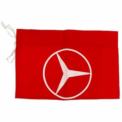 1980's Mercedes Benz Vintage Red Race Flag