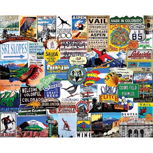 Jigsaw Puzzle I Love Colorado, 1000 Pieces