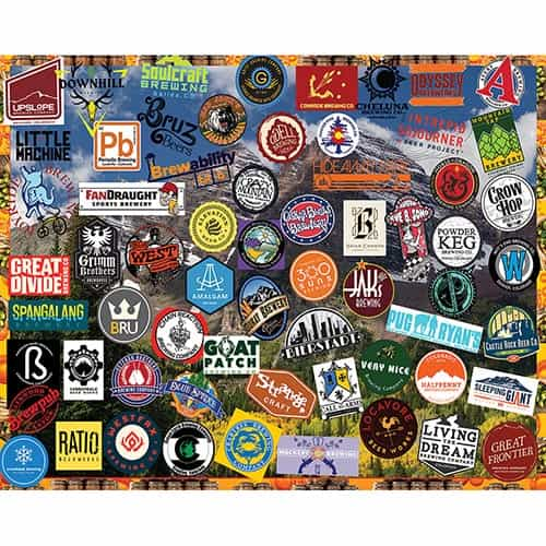 Jigsaw Puzzle Colorado Craft Beers, 1000 Pieces
