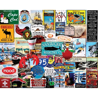 Jigsaw Puzzle I Love New England, 1000 Pieces