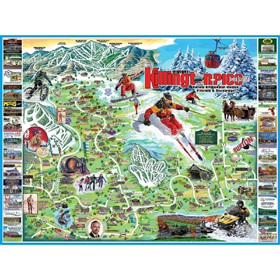 Jigsaw Puzzle I Love Killington & Pico, VT 1000 Pieces