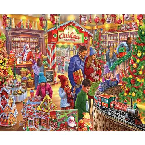 Jigsaw Puzzle Christmas Sweet Shop, 1000 Pieces