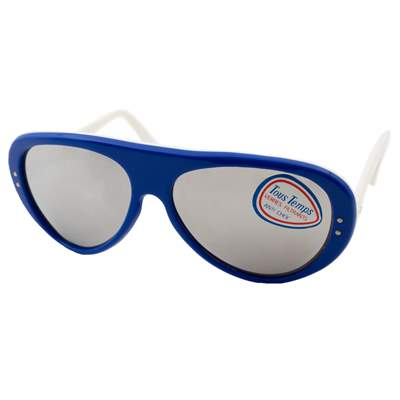 1970s Vintage Bolle Killy Sunglasses, Mirrored Blue & White