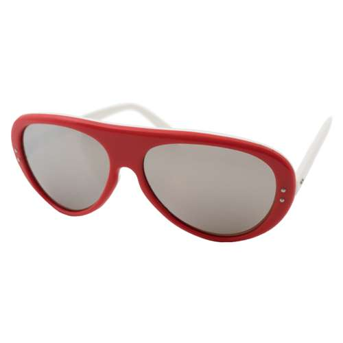1970s Collectible Red Jean Claude Killy Bolle Mirrored  Sunglasses were made in France