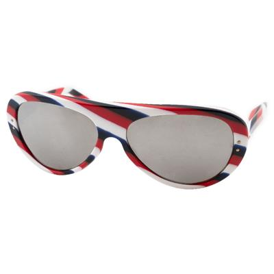 1970s Killy Vintage Bolle Sunglasses, Mirrored Red, White & Blue Stripe
