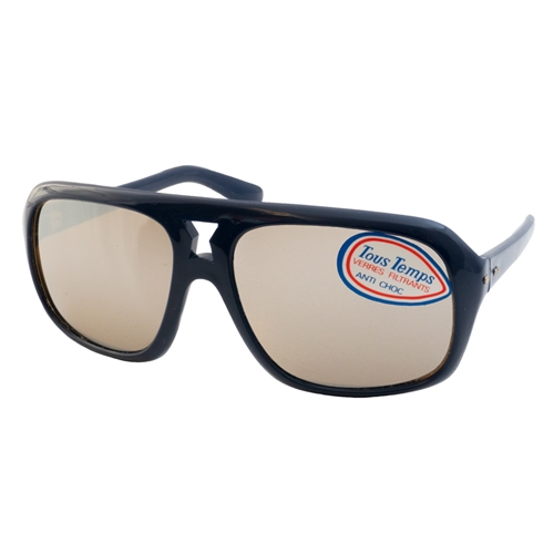 1970s Vintage Bolle Star Sport Sunglasses, Mirrored Navy