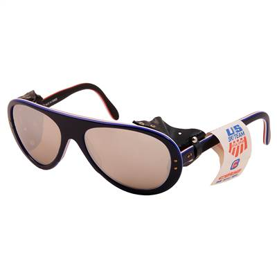 1970's Vintage Cébé Mirrored Red, White and Blue Glacier Sunglasses