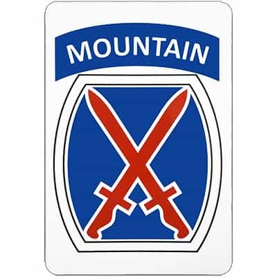 10th Mountain Division Logo Magnet