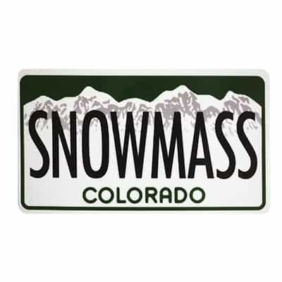Snowmass License Plate Magnet