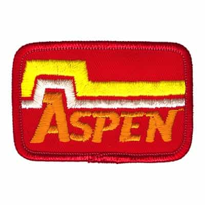 Aspen Colorado Ski Area Vintage Orange and Red Patch