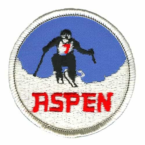 Aspen Ski Racer Black Ski Patch