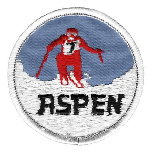 Aspen Ski Racer Red 1970's Ski Patch
