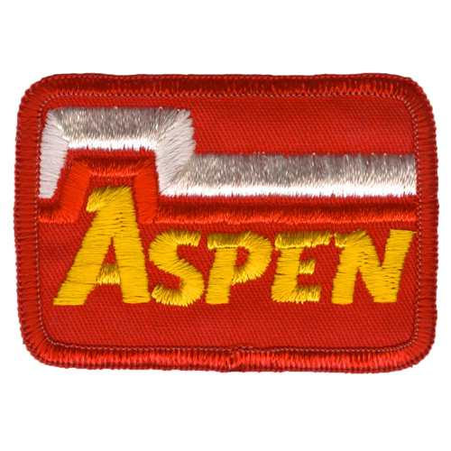 Aspen Colorado Ski Area Vintage Yellow and Red Patch