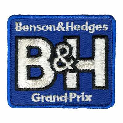 Benson & Hedges Blue Grand Prix Ski Patch