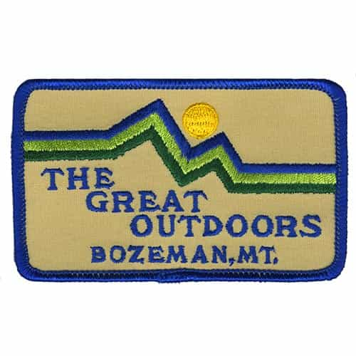 Bozeman Montana Great Outdoors Vintage Patch