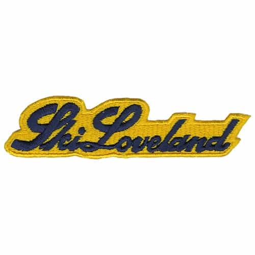 Loveland Colorado Navy and Yellow Vintage Ski Patch