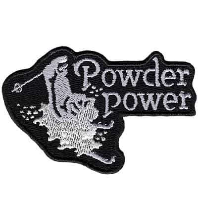 Powder Power Black Vintage Ski Patch