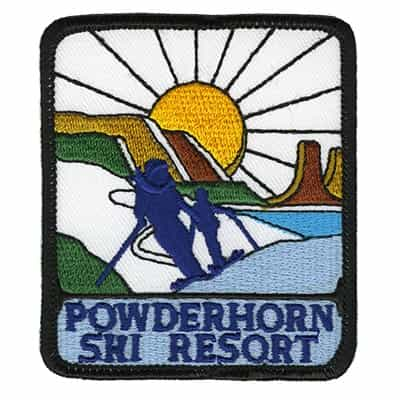 Powderhorn Colorado Vintage Ski Patch