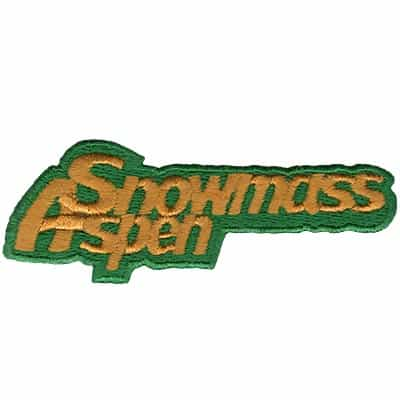 Snowmass Aspen Gold on Green Vintage Ski Patch