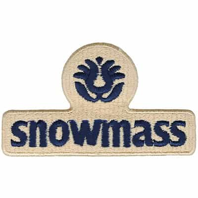 Snowmass Ski Area Blue and Cream Vintage Patch