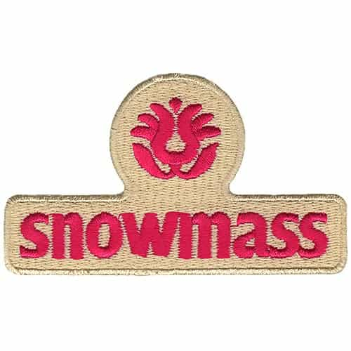 Snowmass CO Ski Area Pink on Cream Embroidered Patch